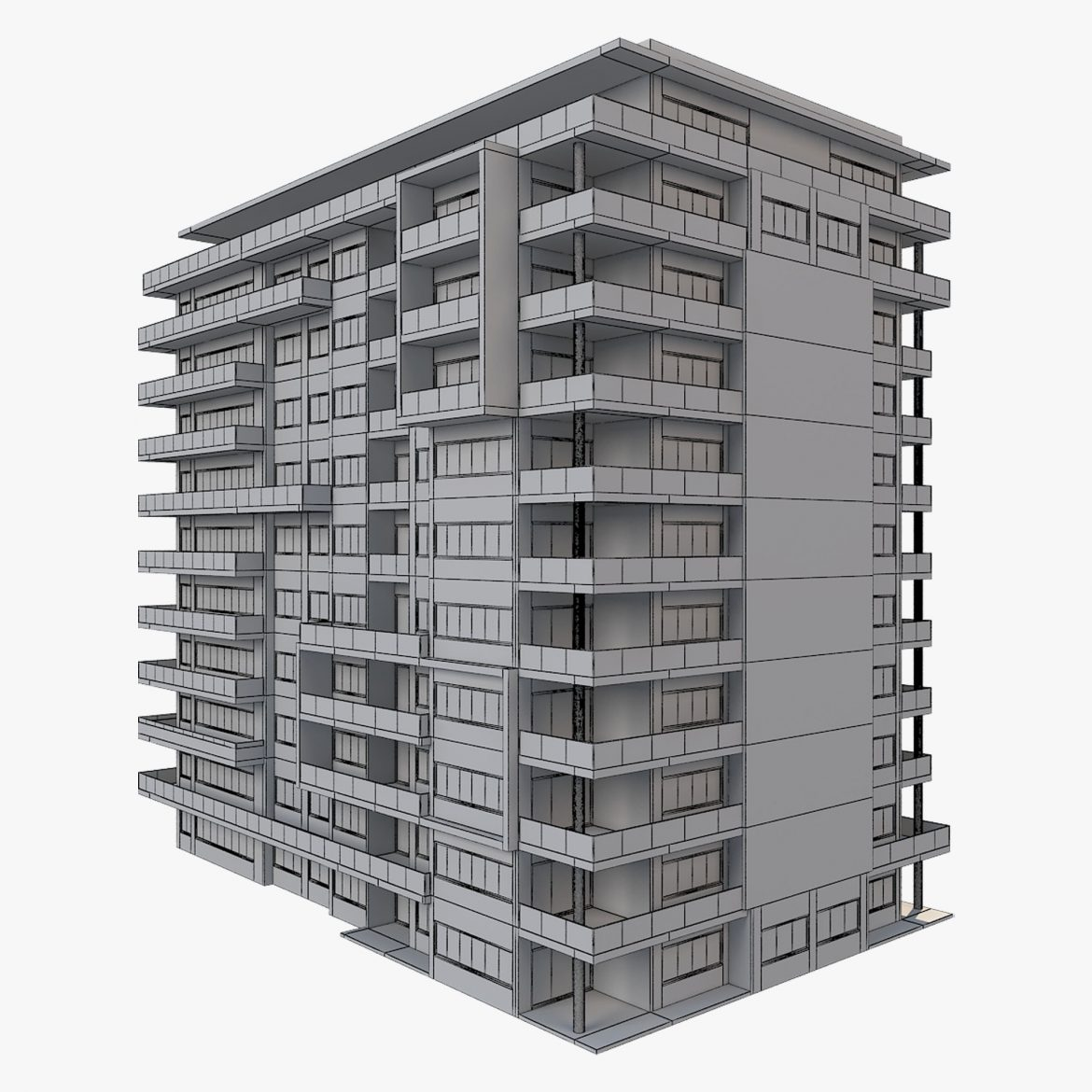 apartment building_61 3d model 3ds blend c4d fbx max ds max plugin ma mb obj 303417