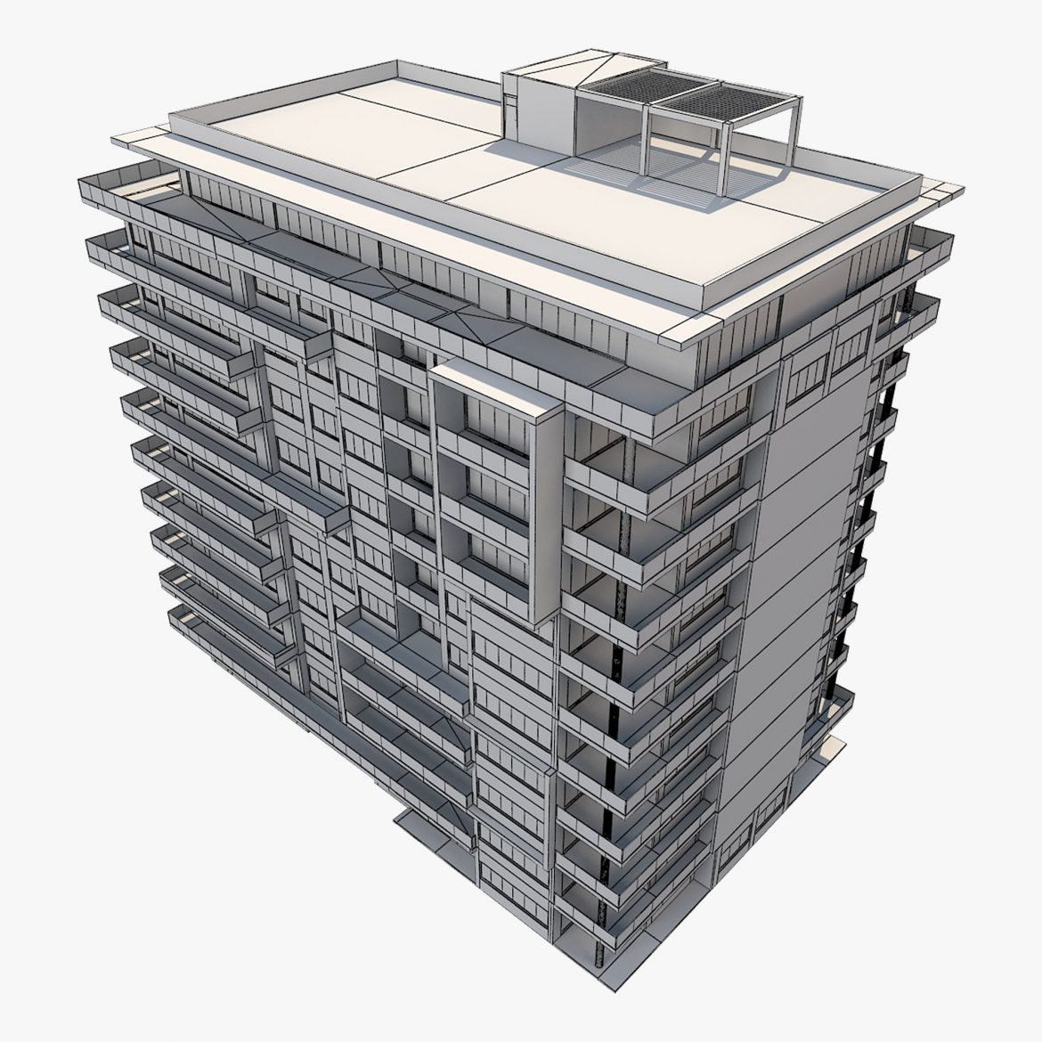 apartment building_61 3d model 3ds blend c4d fbx max ds max plugin ma mb obj 303419