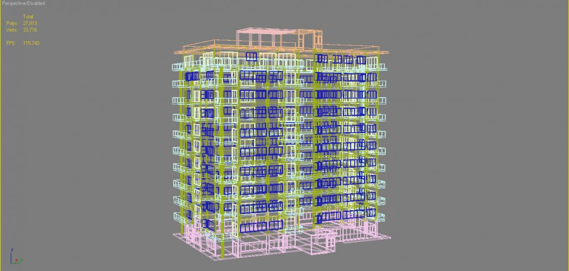 apartment building_61 3d model 3ds blend c4d fbx max ds max plugin ma mb obj 303421