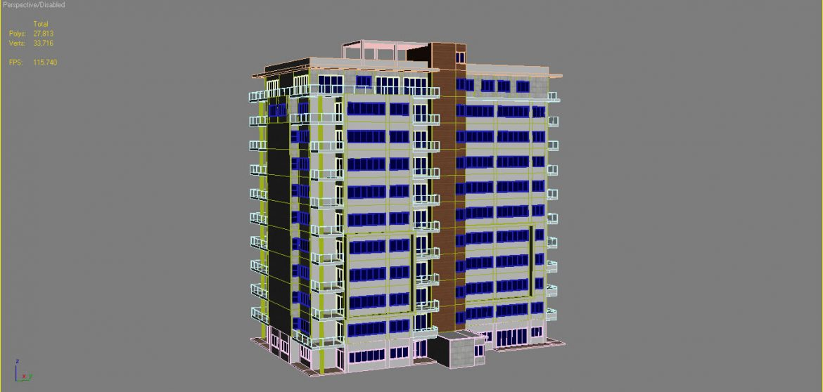apartment building_61 3d model 3ds blend c4d fbx max ds max plugin ma mb obj 303422