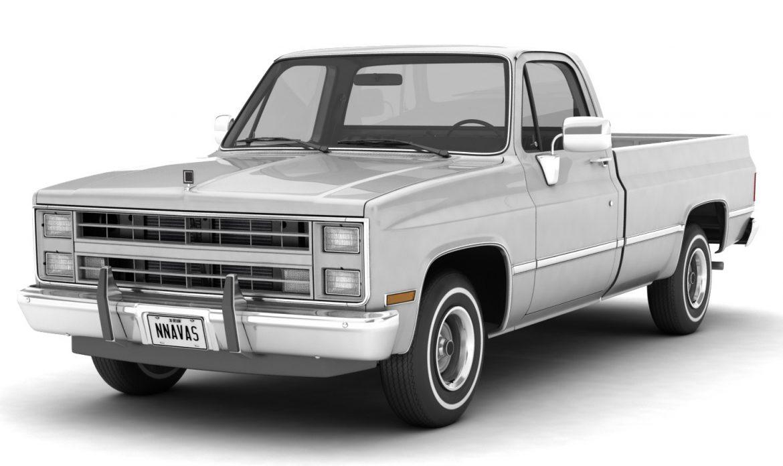 generic pickup truck 1 3d model 3ds max fbx obj 303437