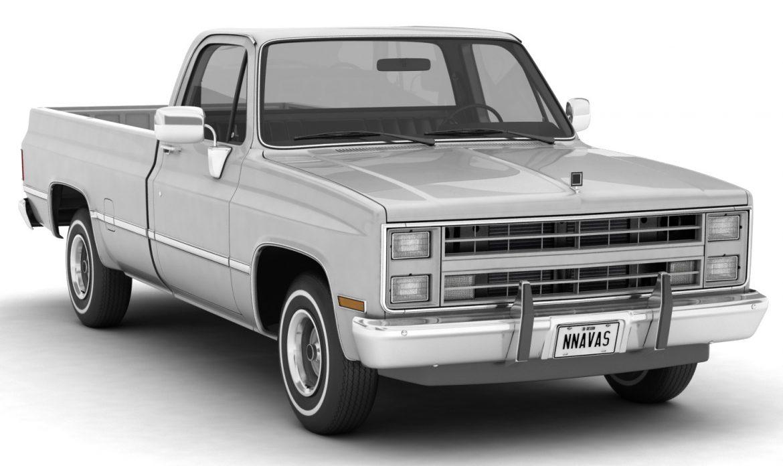 generic pickup truck 1 3d model 3ds max fbx obj 303439