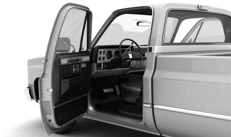 generic pickup truck 1 3d model 3ds max fbx obj 303442