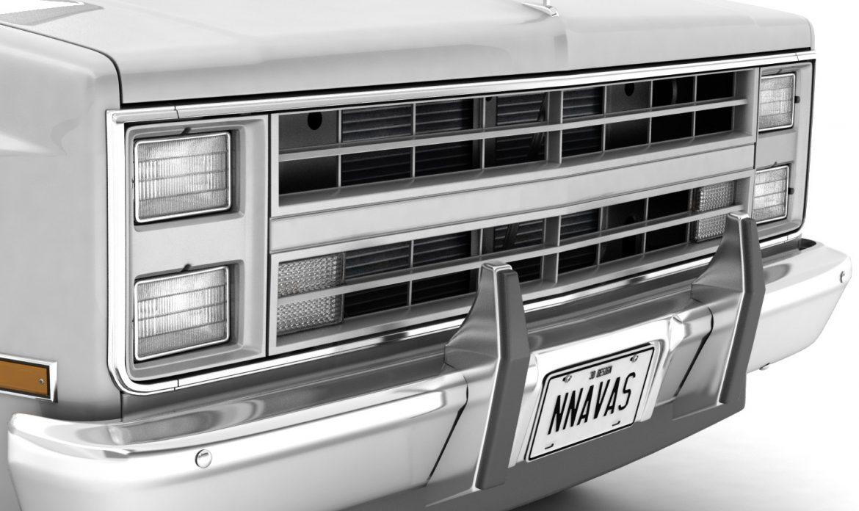 generic pickup truck 1 3d model 3ds max fbx obj 303446