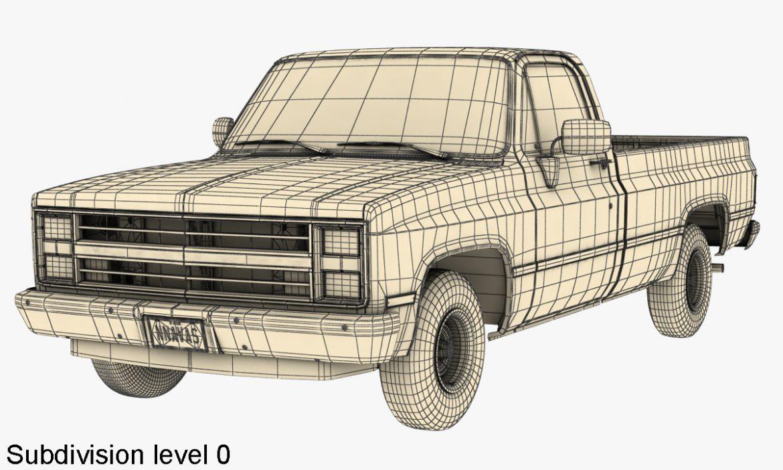 generic pickup truck 1 3d model 3ds max fbx obj 303449