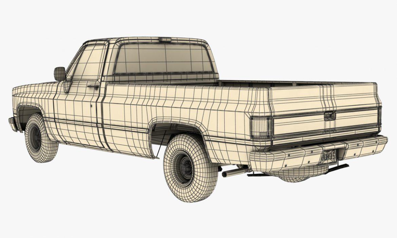 generic pickup truck 1 3d model 3ds max fbx obj 303451