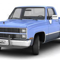 generic pickup truck 3 3d model max 3ds obj fbx jpeg 303465
