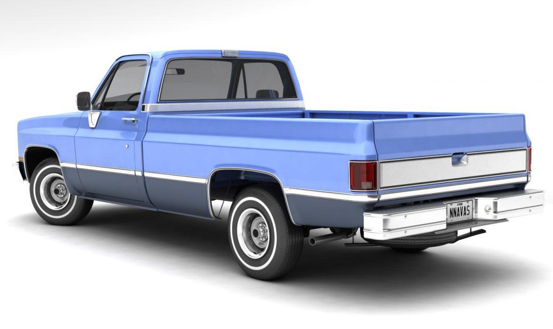 generic pickup truck 3 3d model max 3ds obj fbx jpeg 303466