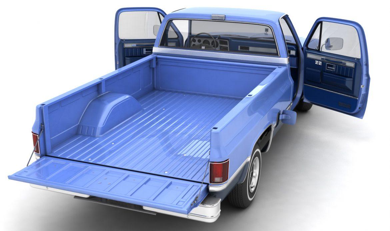 generic pickup truck 3 3d model max 3ds obj fbx jpeg 303467