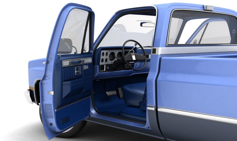 generic pickup truck 3 3d model max 3ds obj fbx jpeg 303468