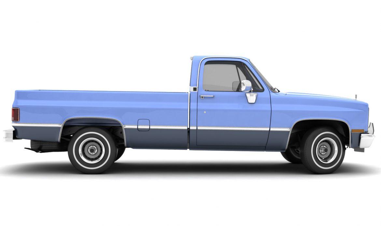 generic pickup truck 3 3d model max 3ds obj fbx jpeg 303477