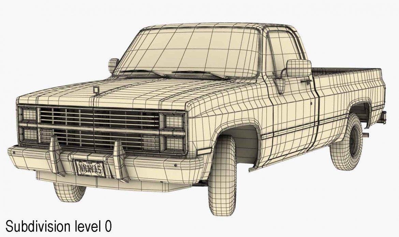 generic pickup truck 3 3d model max 3ds obj fbx jpeg 303480