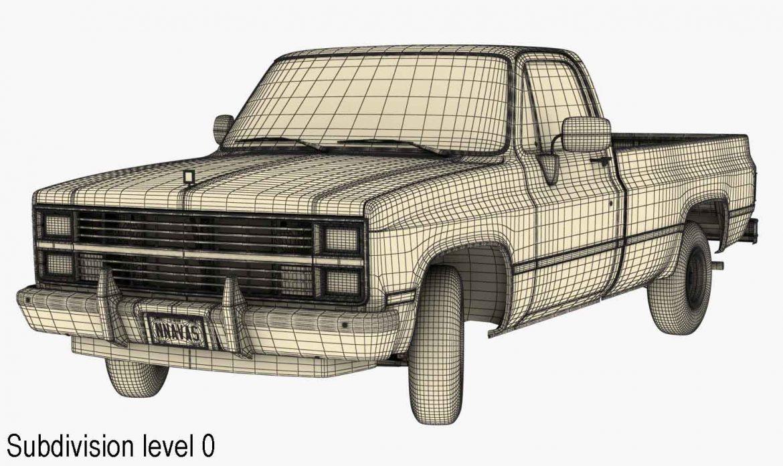 generic pickup truck 3 3d model max 3ds obj fbx jpeg 303481