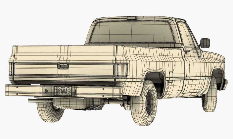 generic pickup truck 3 3d model max 3ds obj fbx jpeg 303482