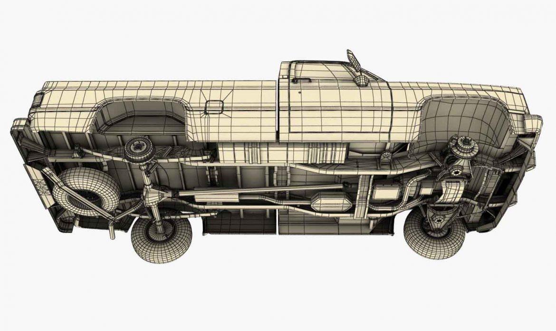 generic pickup truck 3 3d model max 3ds obj fbx jpeg 303483