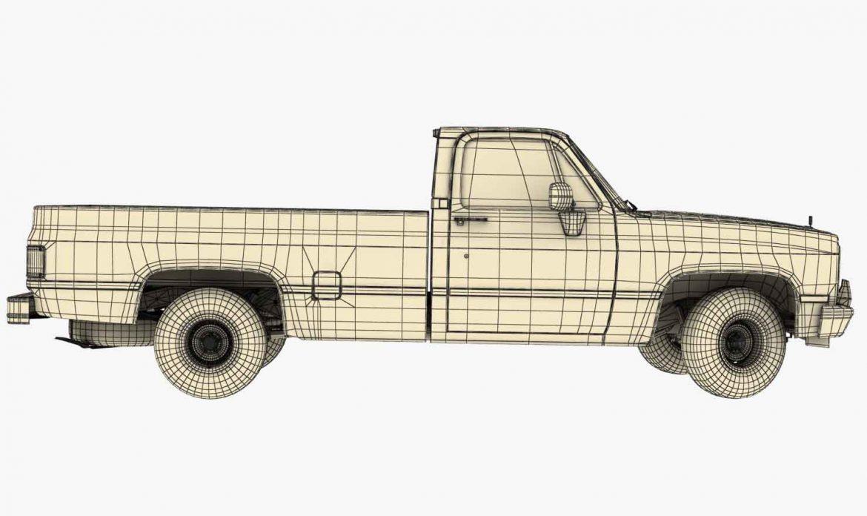 generic pickup truck 3 3d model max 3ds obj fbx jpeg 303485