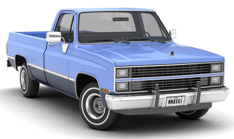 generic pickup truck 3 3d model max 3ds obj fbx jpeg 303489