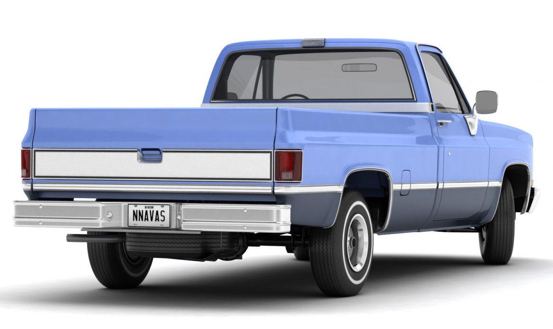 generic pickup truck 3 3d model max 3ds obj fbx jpeg 303490