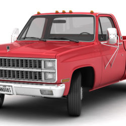 generic dually pickup truck 2 3d model 3ds max fbx obj 303548