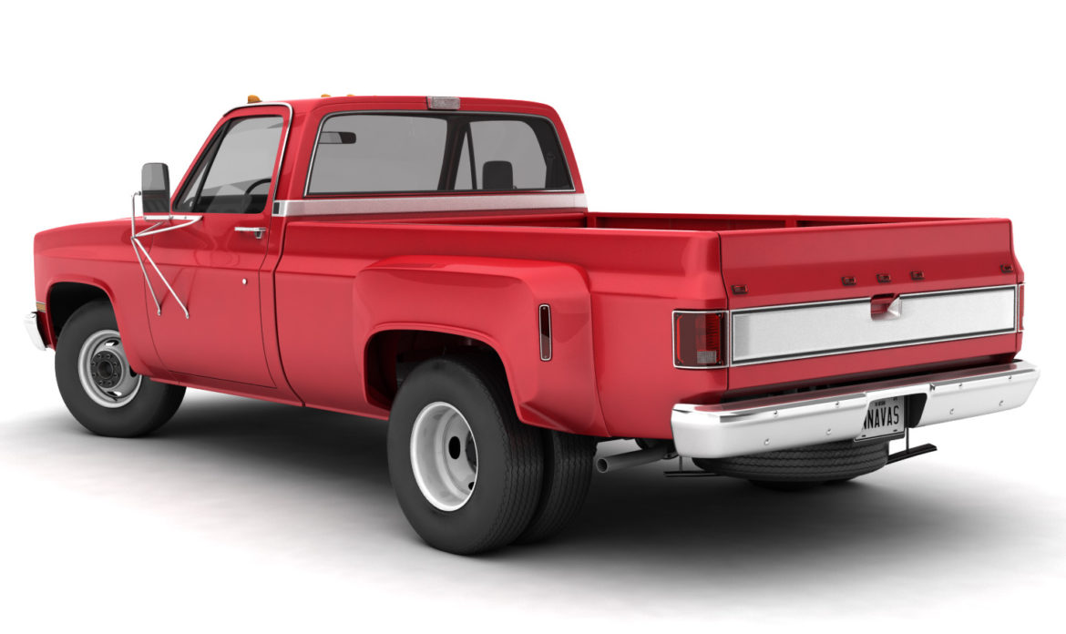generic dually pickup truck 2 3d model 3ds max fbx obj 303549