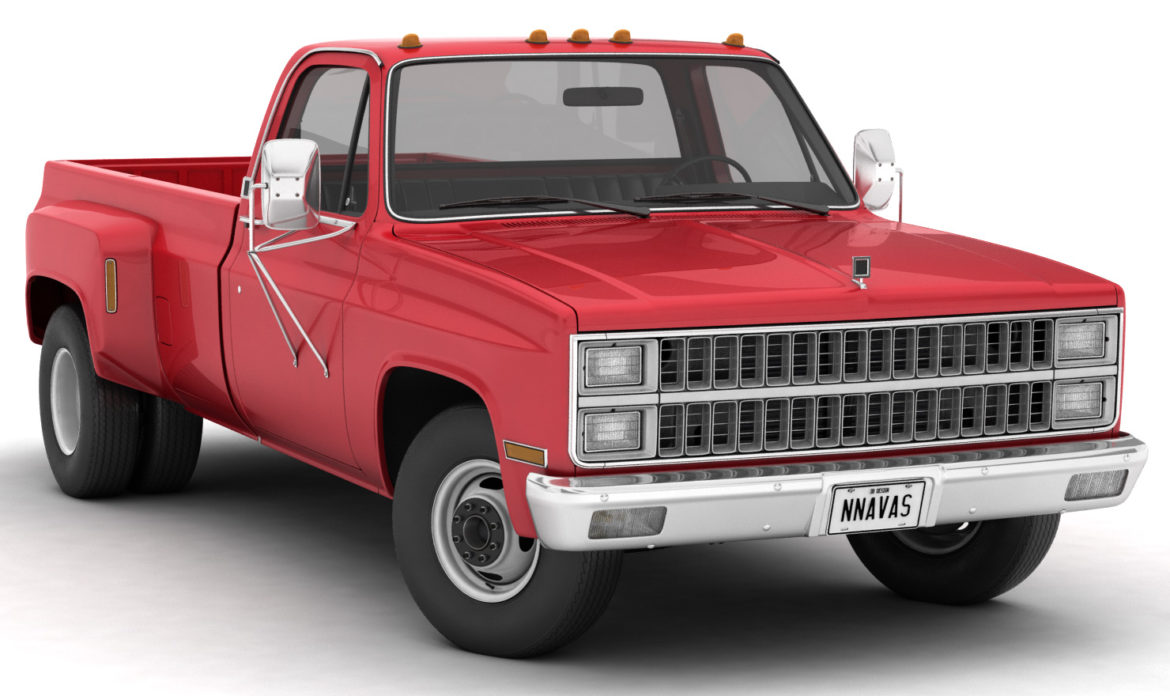 generic dually pickup truck 2 3d model 3ds max fbx obj 303550