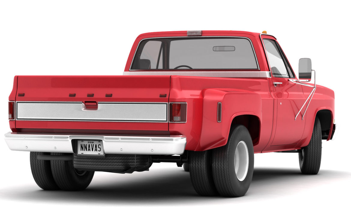 generic dually pickup truck 2 3d model 3ds max fbx obj 303551