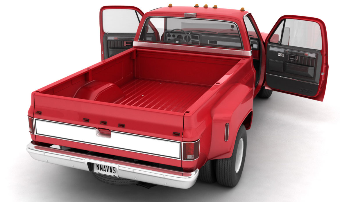 generic dually pickup truck 2 3d model 3ds max fbx obj 303552