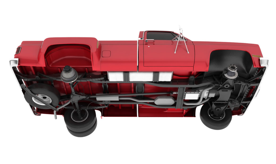 generic dually pickup truck 2 3d model 3ds max fbx obj 303553