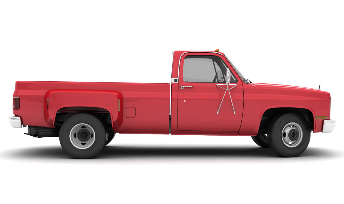 generic dually pickup truck 2 3d model 3ds max fbx obj 303563