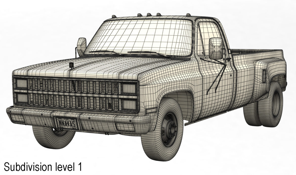 generic dually pickup truck 2 3d model 3ds max fbx obj 303570