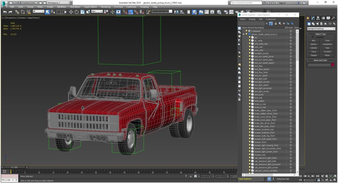 generic dually pickup truck 2 3d model 3ds max fbx obj 303578