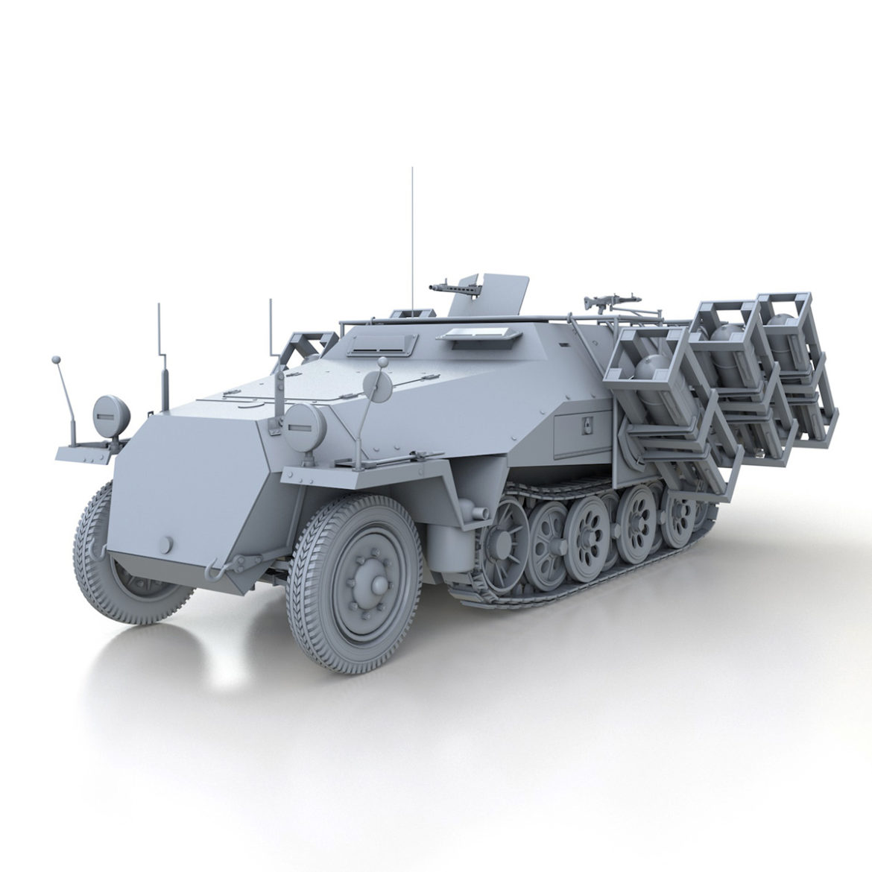 sdkfz 251 – ausf.d – stuka zu fuss 3d model 3ds c4d fbx lwo lw lws obj 303586