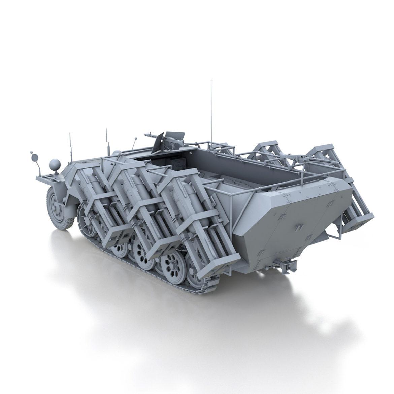 sdkfz 251 – ausf.d – stuka zu fuss 3d model 3ds c4d fbx lwo lw lws obj 303589