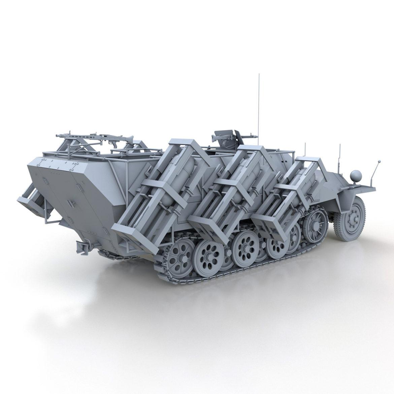 sdkfz 251 – ausf.d – stuka zu fuss 3d model 3ds c4d fbx lwo lw lws obj 303591