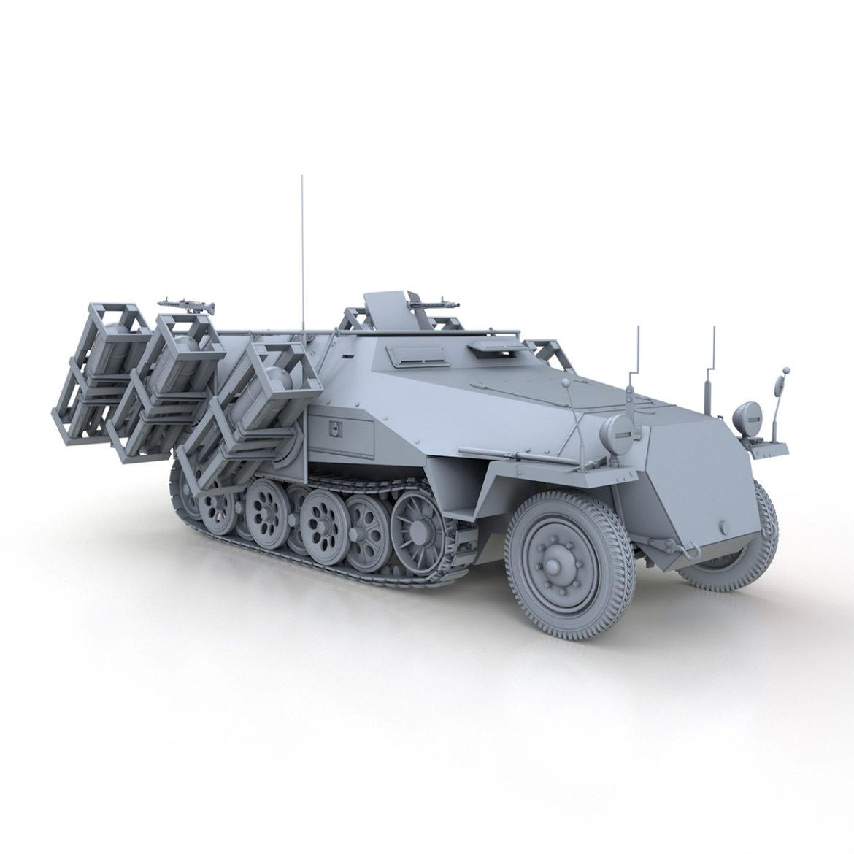 sdkfz 251 – ausf.d – stuka zu fuss 3d model 3ds c4d fbx lwo lw lws obj 303593