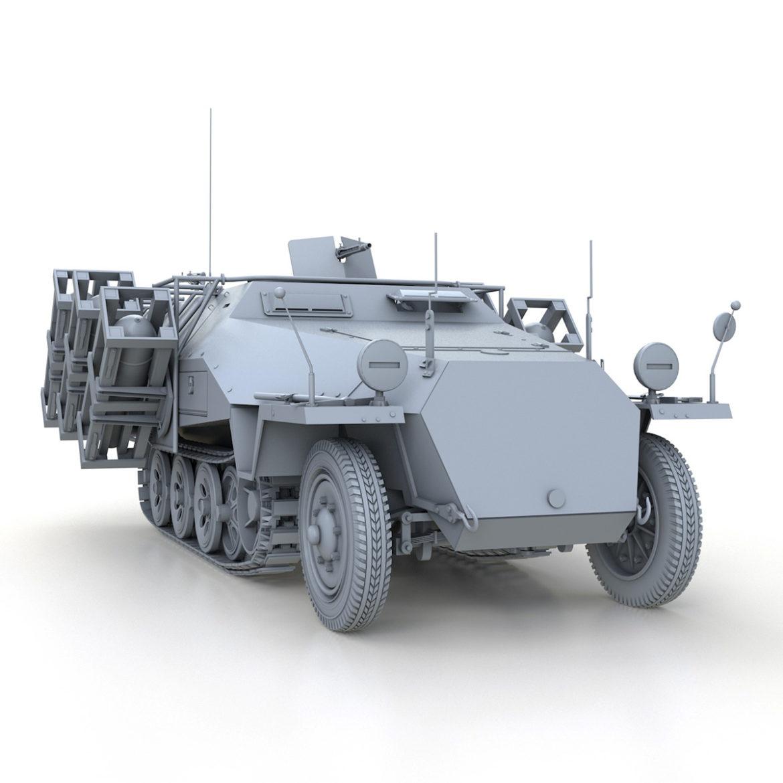 sdkfz 251 – ausf.d – stuka zu fuss 3d model 3ds c4d fbx lwo lw lws obj 303594