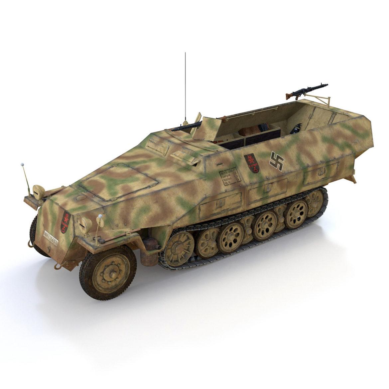 sdkfz 251/1 – ausf.d – half-track – 202 3d model 3ds c4d fbx lwo lw lws obj 303626