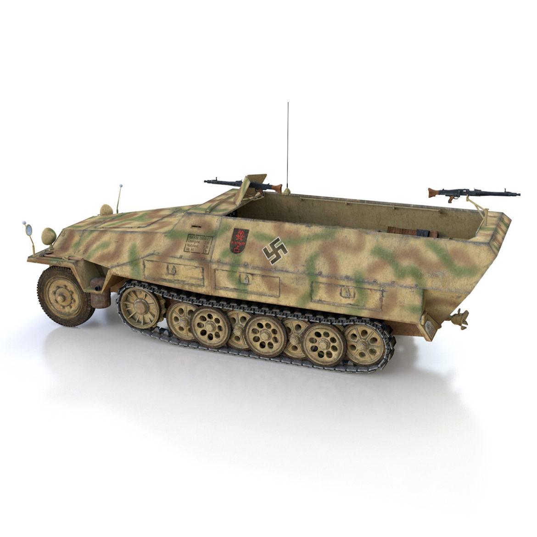 sdkfz 251/1 – ausf.d – half-track – 202 3d model 3ds c4d fbx lwo lw lws obj 303627