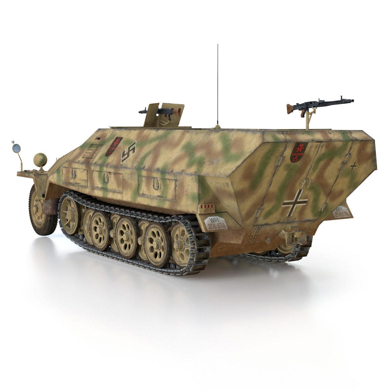 sdkfz 251/1 – ausf.d – half-track – 202 3d model 3ds c4d fbx lwo lw lws obj 303628