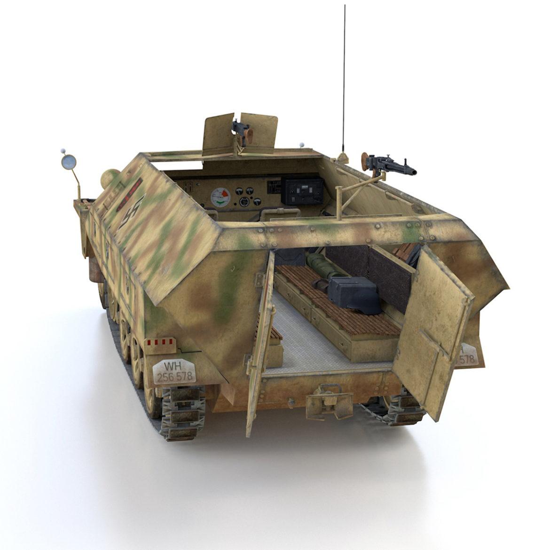 sdkfz 251/1 – ausf.d – half-track – 202 3d model 3ds c4d fbx lwo lw lws obj 303629
