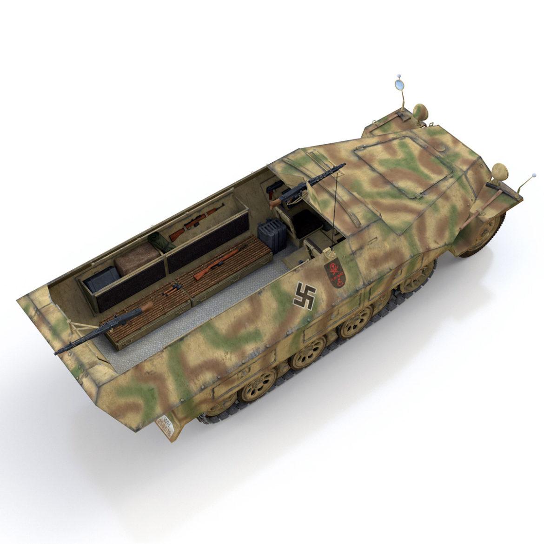 sdkfz 251/1 – ausf.d – half-track – 202 3d model 3ds c4d fbx lwo lw lws obj 303630