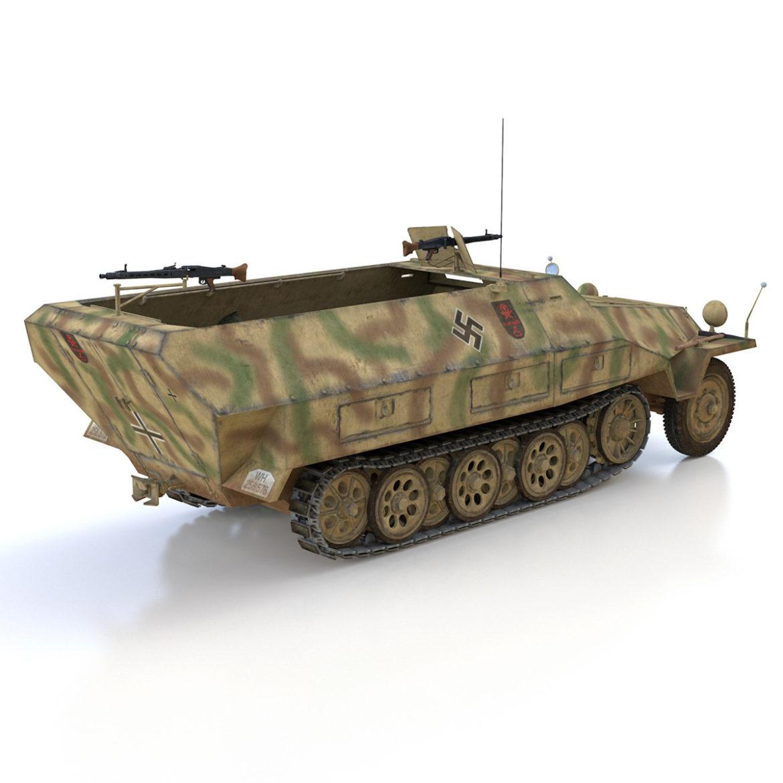 sdkfz 251/1 – ausf.d – half-track – 202 3d model 3ds c4d fbx lwo lw lws obj 303631