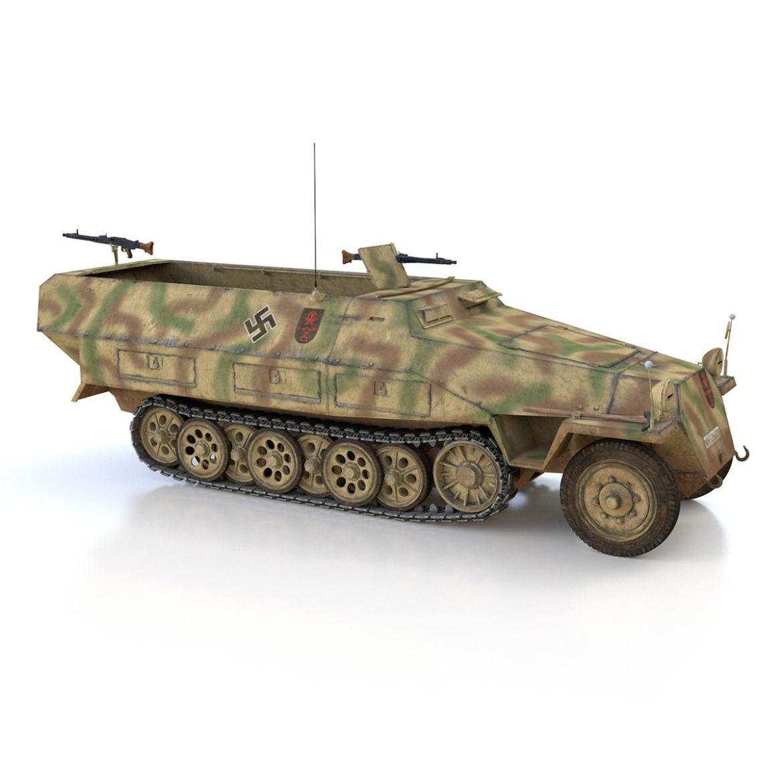 sdkfz 251/1 – ausf.d – half-track – 202 3d model 3ds c4d fbx lwo lw lws obj 303632