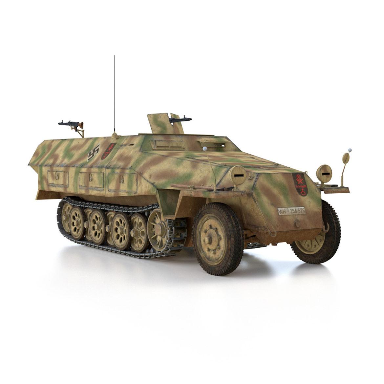 sdkfz 251/1 – ausf.d – half-track – 202 3d model 3ds c4d fbx lwo lw lws obj 303633