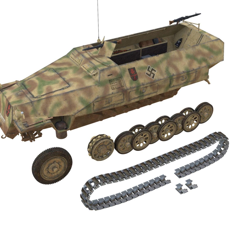 sdkfz 251/1 – ausf.d – half-track – 202 3d model 3ds c4d fbx lwo lw lws obj 303635