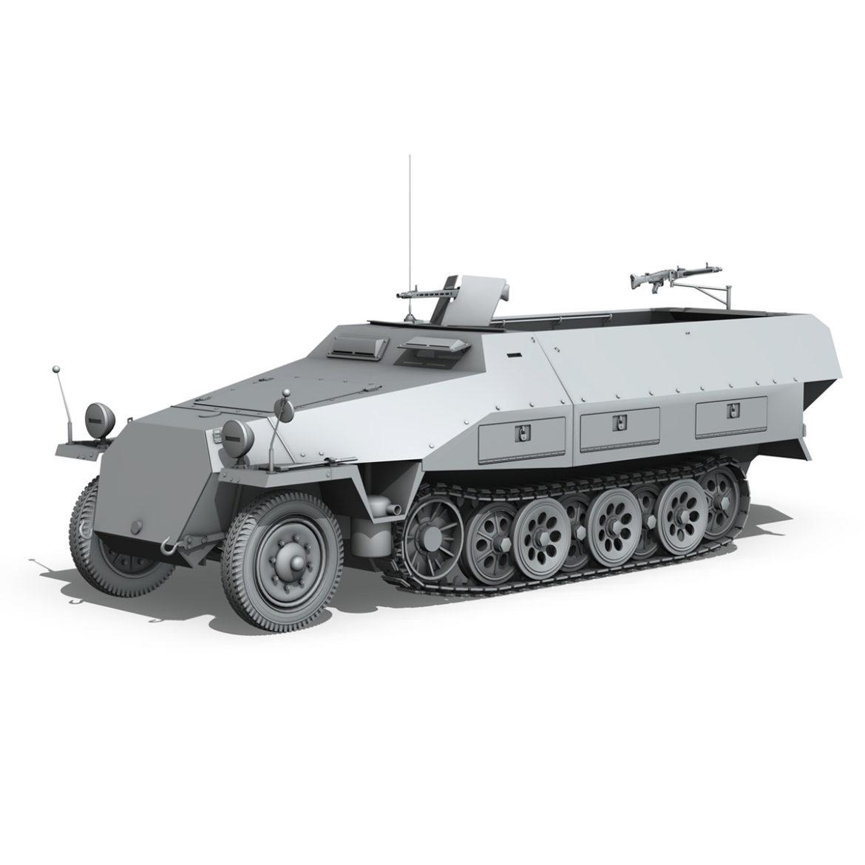 sdkfz 251/1 – ausf.d – half-track – 202 3d model 3ds c4d fbx lwo lw lws obj 303636