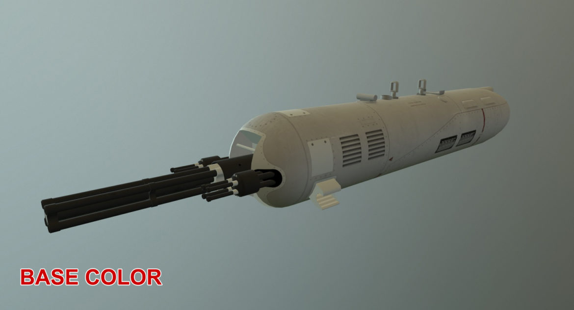 gun pod guv-8700 3d model ther obj max 3ds 303759
