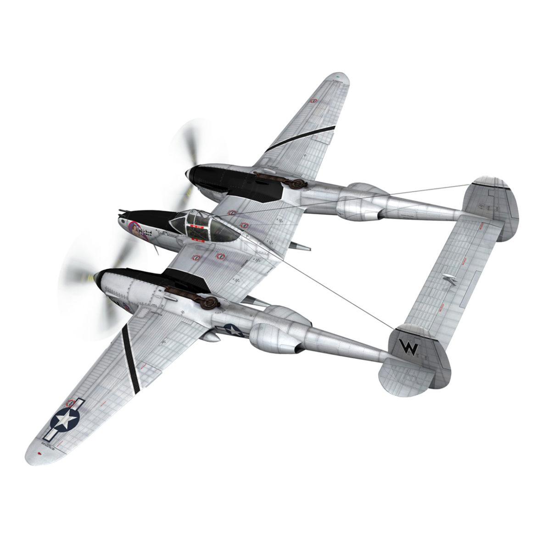lockheed p-38 lightning – wicked woman 3d model fbx lwo lw lws obj c4d 303809
