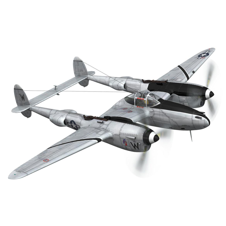 lockheed p-38 lightning – wicked woman 3d model fbx lwo lw lws obj c4d 303812
