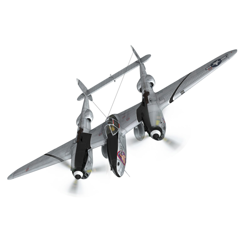 lockheed p-38 lightning – wicked woman 3d model fbx lwo lw lws obj c4d 303813